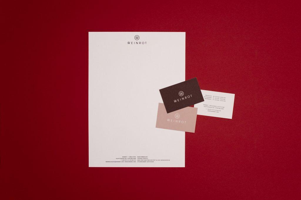 letterhead weinrot