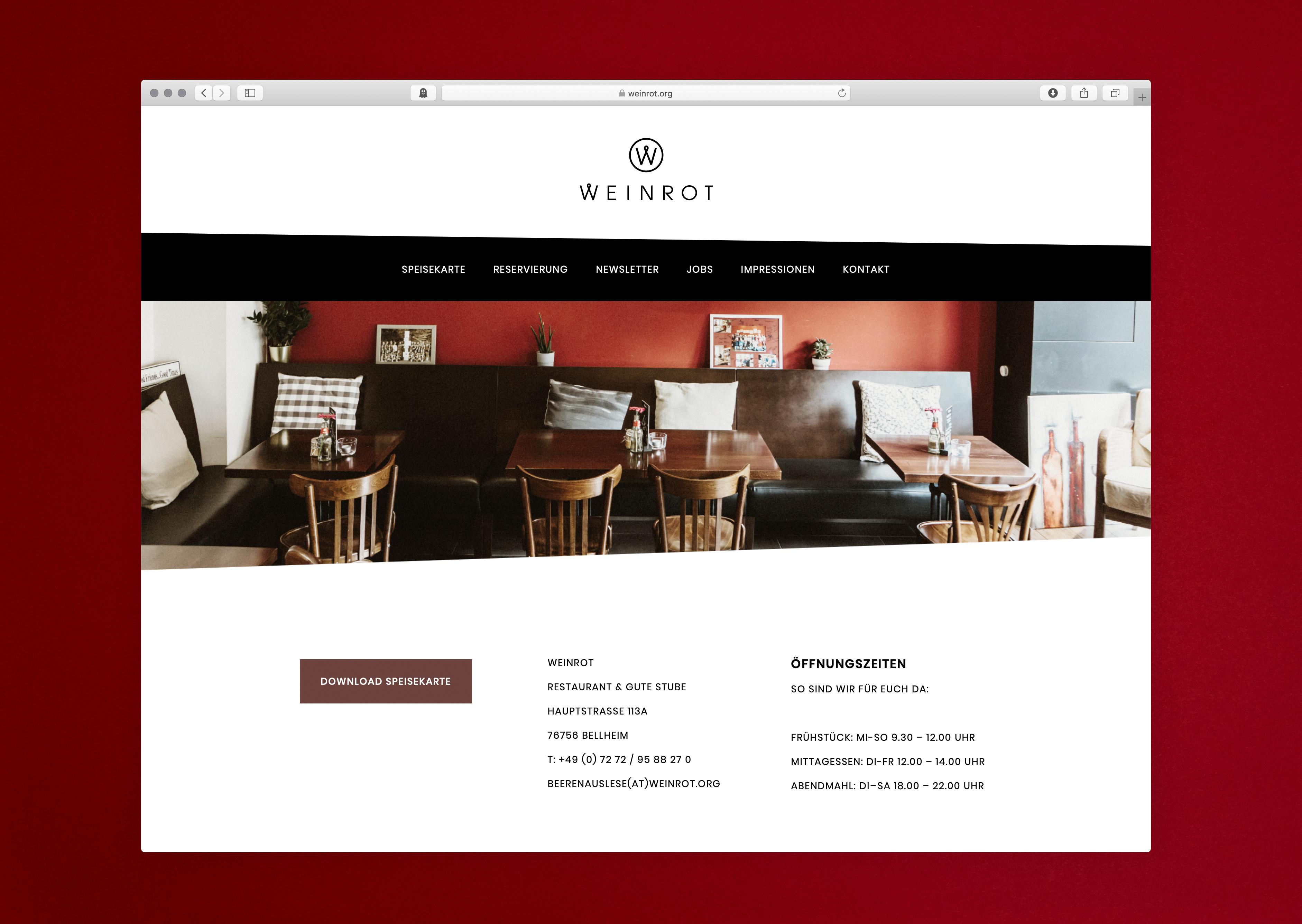 Website Weinrot