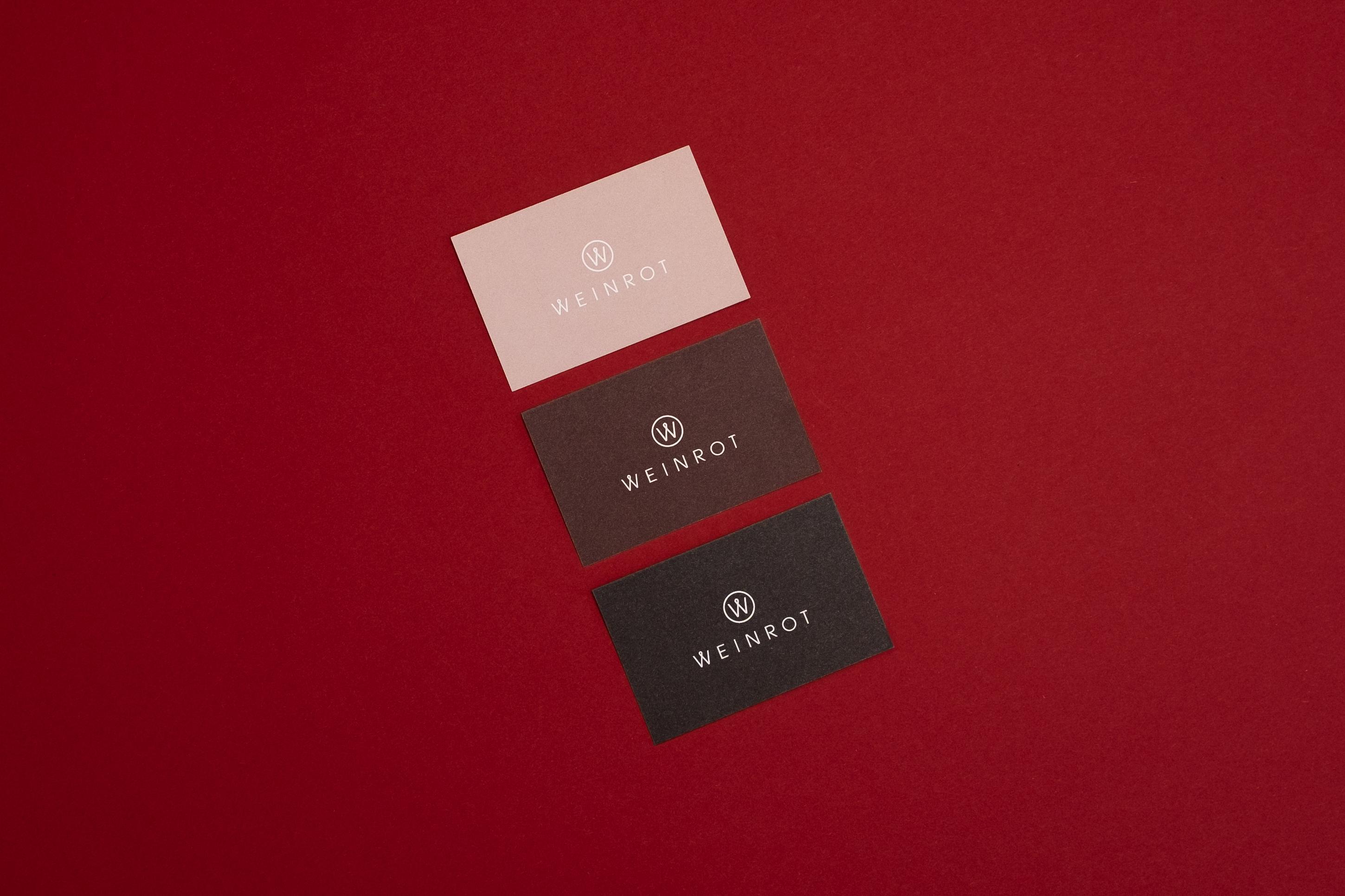 Visitenkarten Weinrot