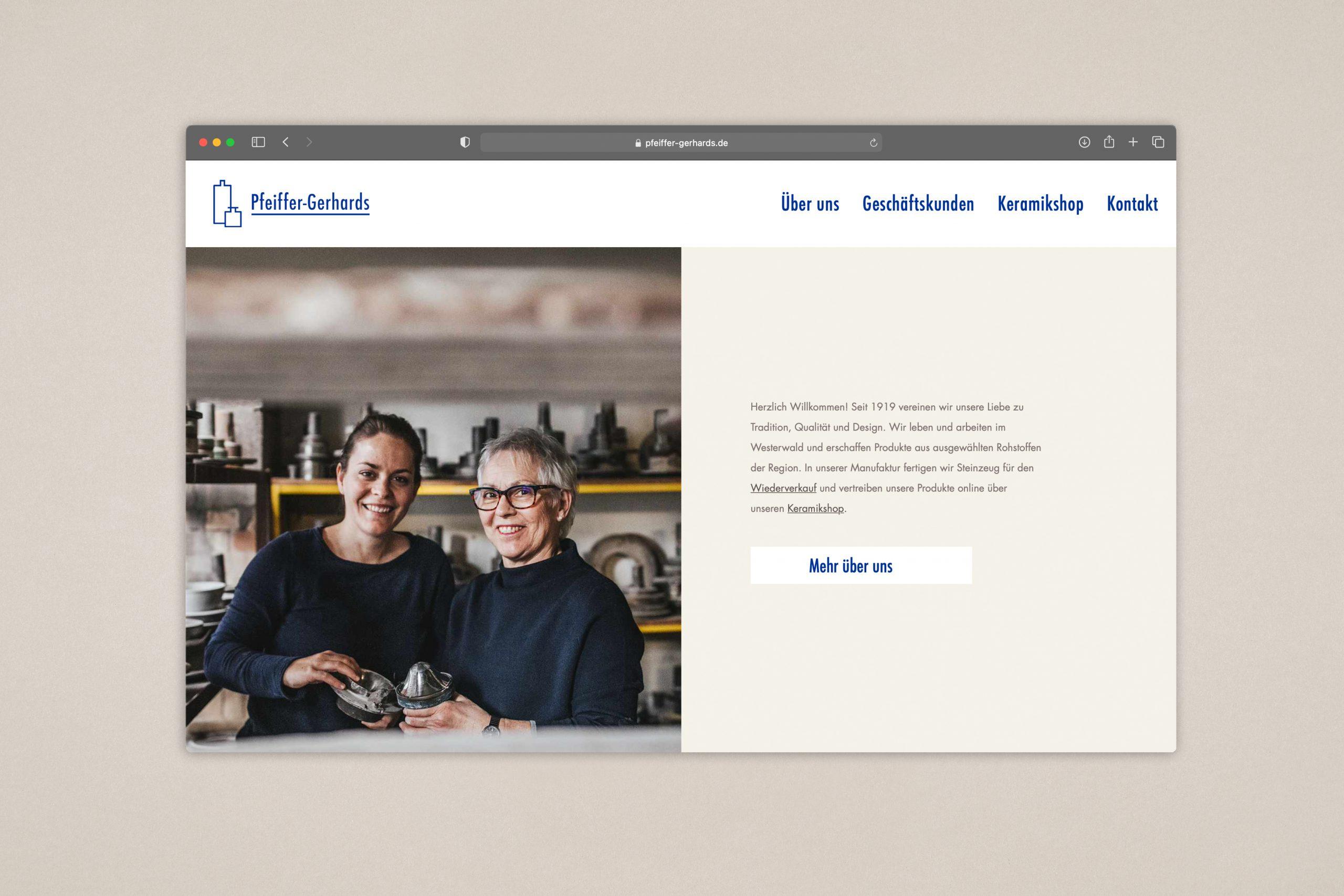 website Pfeiffer Gerhards